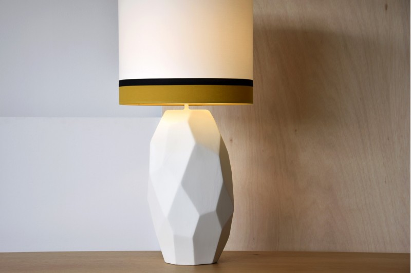 CERAMIC LAMP MARS W/SHADE
