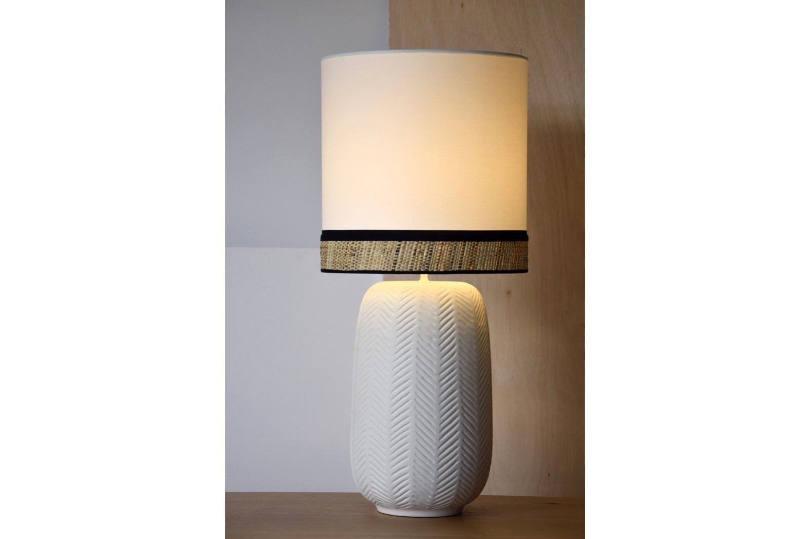CERAMIC LAMP CLOE W/SHADE.LARGE