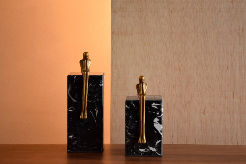 WAITING COLLECTION. MARBLE AND METAL